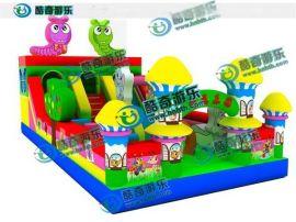 **款充气大滑梯/熊出没的滑梯 广场充气游乐玩具