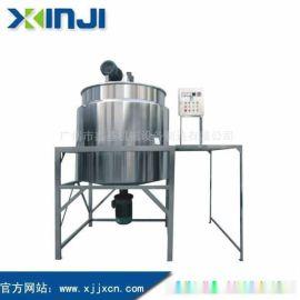 液洗锅,加热搅拌罐成套设备,洗发水沐浴露均质液洗锅