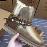 羊皮毛一體雪地靴時尚光面羊毛短靴冬季保暖女士雪地靴
