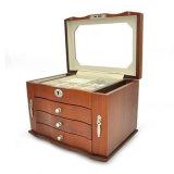 超大容量带锁实木首饰盒多功能饰品盒珠宝首饰收纳盒