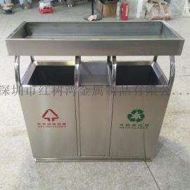 云南户外分类不锈钢垃圾桶垃圾箱果皮箱花箱