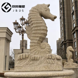 花岗岩喷水海马石雕大理石吐水海马雕塑景观装饰厂家