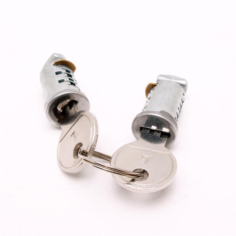 5号锌锁芯 汽车车顶行李架锁芯 不通开铜锁片5号锌锁芯