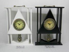 情侣木制时钟