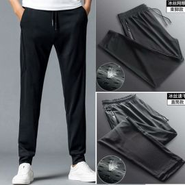 户外休闲裤男士夏季薄款网眼速干透气运动休闲长裤