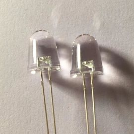 厂家直销f3圆头有沿透明长脚灯珠绿光led520-525nm 3mm发光二极管