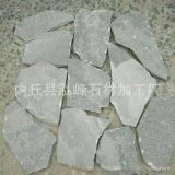 青灰色石材冰裂纹乱形石 毛石碎拼 园林别墅铺地贴墙文化石外墙砖