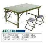 廠家B款戶外軍綠色摺疊桌野餐桌戰戰備桌訓練戰備桌子餐桌B款