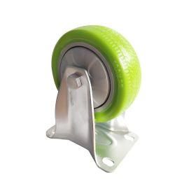 厂家供应万向定向轮 4寸工业脚轮重型减震可带刹车tpr材质批发