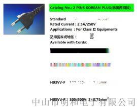 韩规两插、欧规两插(KTL、VDE认证)