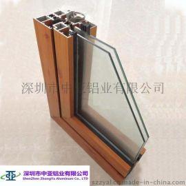 厂家直销仿木纹铝合金门窗型材