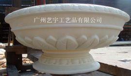 人造砂岩雕塑花盆 园林景观雕花花盆 广场装饰种花花盆