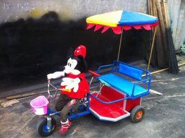 小洋人蹬车 机器人拉车 机器人拉三轮车 洋人拉车 毛绒玩具车 音乐洋人车 **广场游乐车
