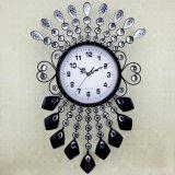 欧式简约挂钟时尚创意艺术客厅大号石英表卧室时钟 个性家居钟表立朔