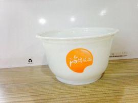 厂家定制餐饮连锁850一次性塑料碗,一次性塑料碗印制LOGO,免费设计!