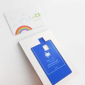 新款超薄卡片U盘 名片式金属U盘 会员卡礼品优盘 广告创意商务促销赠品定制