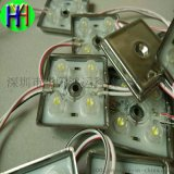 LED2835四灯铁壳带透镜打孔字模组