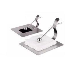 不锈钢餐巾纸架 餐厅桌面纸巾盒 创意方形压纸座