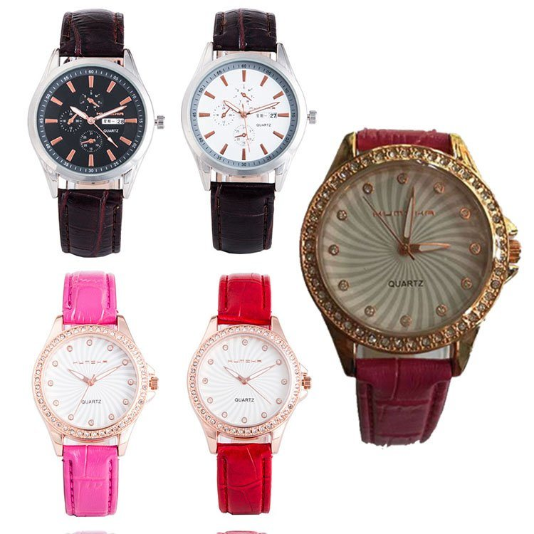 香港酷米卡手錶批發 新款時尚帶日曆光動能手錶廠家直銷 石英錶