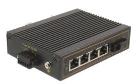 4口百兆工业级POE光纤收发器