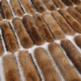 超大真毛领子貉子帽条貉子毛条毛毛领狐狸毛领子围巾围脖女皮草黑
