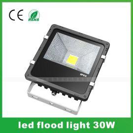 30W投光燈 超頻三集成LED泛光燈 塑包鋁鰭片戶外IP65投射燈成品
