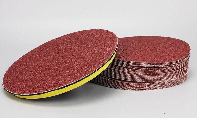 吸盘4寸5寸魔术植绒砂纸磨片 拉绒片背绒片自粘盘角磨机