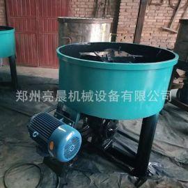 双滚碾压轮碾式立式混凝土搅拌机 泥沙混合机 多功能机械设备
