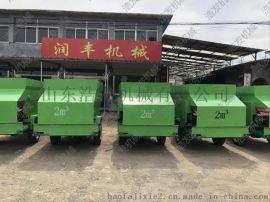 江西牛场撒料车价格 全自动农用喂料车 电动喂料车