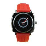 优质手表厂家定制新款环保硅胶表带方形石英手表
