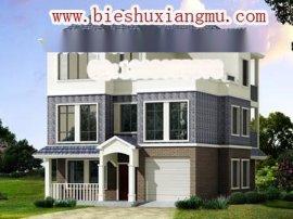 建筑面积300平方米带车库的三层农村房子装修效果图