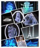 照片定製個性化3D立體人像雕刻景點多功能水晶鐳射內雕機