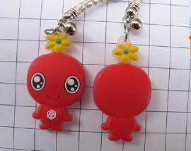 吉祥物钥匙扣吊饰订制,滴胶卡通动漫钥匙扣吊饰