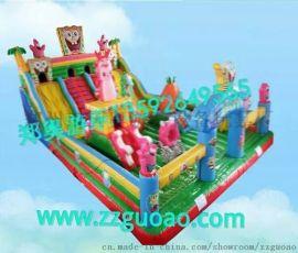 郑奥厂家直销大型充气滑梯 水上儿童玩具