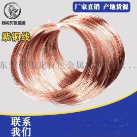 进口紫铜微丝 c1100紫铜线 进口漆包铜线 0.01-0.1mm铜漆包线