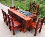 老船木茶桌椅组合特价实木茶台阳台茶艺桌功夫茶几