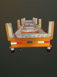 12吨电动轨道车 有轨平板车