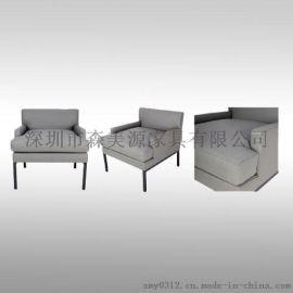 北欧现代简约懒人沙发单人老虎椅客厅美式休闲布艺沙发