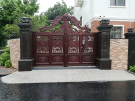 鋁藝庭院門、別墅庭院門、花園大門、鐵藝門、銅門