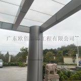 定製弧形包柱子鋁單板 銀灰色弧形包柱鋁單板