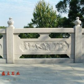 石材栏杆 花岗岩河道石雕栏板 景区古建筑用石栏杆