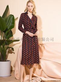 女装品牌折扣公司例外春夏装新款上衣连衣裙