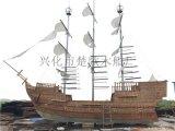 四川成都大型景观海盗船 户外装饰船 公园观赏木船