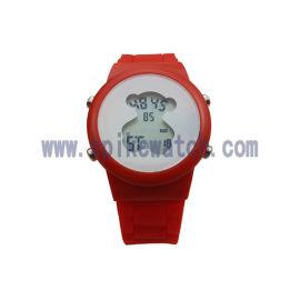 手錶工廠供應新款多功能兒童小熊電子手錶