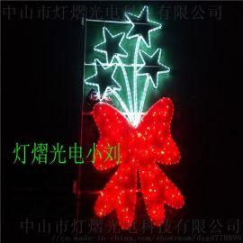 双头灯LED路灯杆装饰灯  彩虹管光源灯杆造型灯