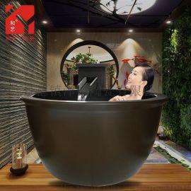 澡堂陶瓷洗浴缸 定做休闲山庄洗浴缸温泉缸 冲澡缸