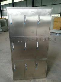 不锈钢储物柜 忠越生产厂家