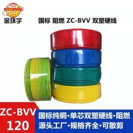 深圳市金环宇电线 ZC-BVV 120电线 铜芯聚**乙烯绝缘电线 1卷起