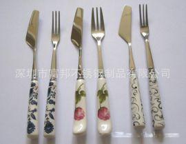 陶瓷柄月餅刀叉(多款)