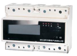 罗尔福DTS5881-QD三相四线导轨多功能电能表 三相导轨式多功能表